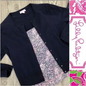 Lilly Pulitzer Navy Blue Sweater Cardigan